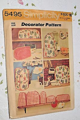 Vtg 5495 SIMPLICITY CRAFTS KITCHEN APPLIANCE COVERS SEWING PATTERN UNCUT