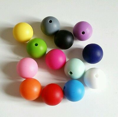 65x Silicone teething beads 15mm wholesale  make your own necklace dummy clips