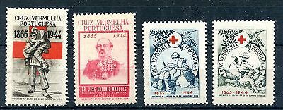 1944 - Portugal - Red Cross Set Of 4, Mint