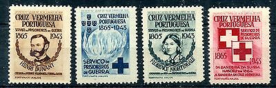 1943 - Portugal - Red Cross Set Of 4, Mint