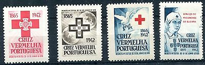 1942 - Portugal - Red Cross Set Of 4, Mint