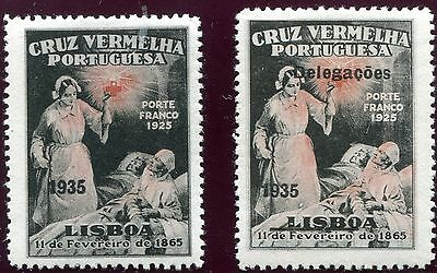 1935 - Portugal - Red Cross Pair, Mint
