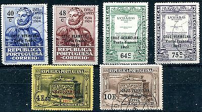 1927 - Portugal - Red Cross Set Of 6, Used