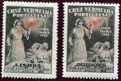 1926 - Portugal - Red Cross Pair, Mint