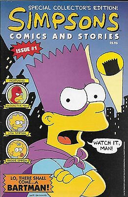 Simpsons Comics and Stories No.1 / 1993 OVP mit Poster