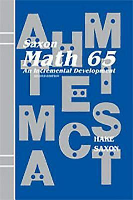 Saxon Math 6/5: Student Edition 2001 by John Saxon (English) Hardcover Book Free