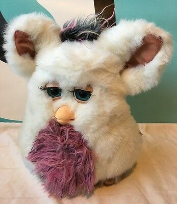 Furby Vintage White Large Furry Emototronic By Tiger Working