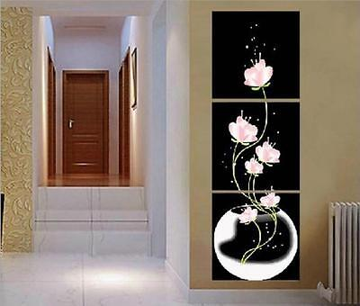 """20x20"""" DIY Home Decor Acrylic Paint By Number Kit Three Parts Flower 226"""
