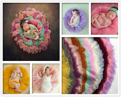 19-Colors Round Soft Woolen Mat Rug Newborn Baby Photography Props Blanket