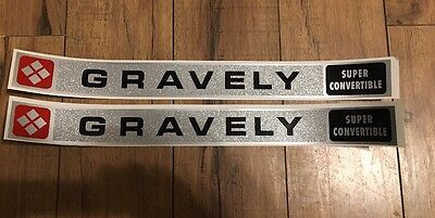 Gravely Super Convertible Decal Set Of Two Walking Tractor 6.6hp L8
