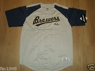 MLB Dynasty Serie Baseball Jersey Oberteil Hemd MILWAUKEE BREWERS