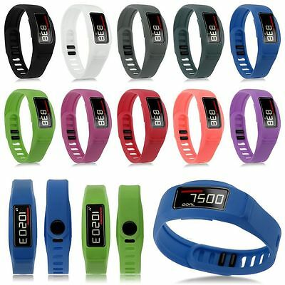 For Garmin Vivofit 2 Replacement Silicone S/L Wristband Bracelet Band w/ Clasp