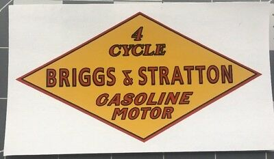Briggs & Stratton early engine decal Golden FH, L, M & Q 1 Decal