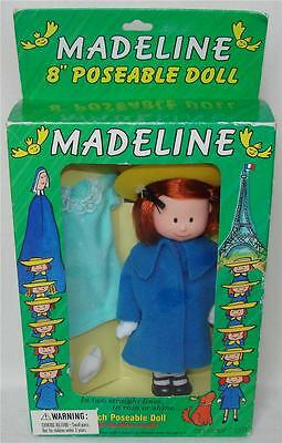 """Madeline 7 1/2"""" - 8"""" Doll School Outfit & PJs Nightgown & Slippers NEW"""