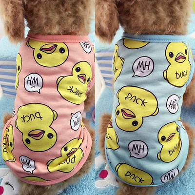Cute Cat Small Dog Puppy Vest T-Shirt Pet Dog Clothes Summer Apparel Costumes