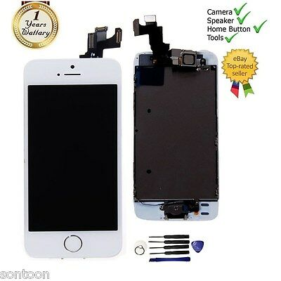 For iPhone 5S White Full LCD Display Touch Screen Digitizer Assembly Replacement