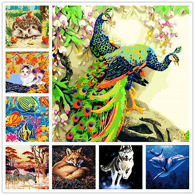 """16""""x20""""Dimensions DIY Paint By Number Kit On Canvas--Animal Nature Scenery Theme"""
