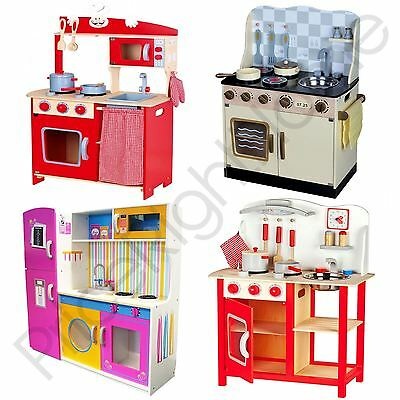 Leomark Wooden Kitchen Childrens Play Kitchen With Accessories Toys Free P+P New
