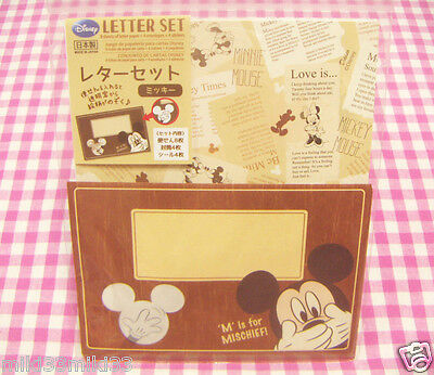 Disney Mickey Mouse Letter Set / Made in Japan DAISO Stationery