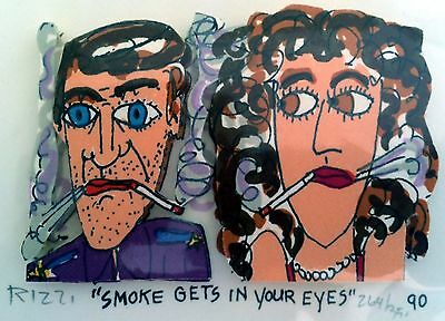 James Rizzi » Smoke Gets In Your Eyes «  Seltenes 3D  aus 1990
