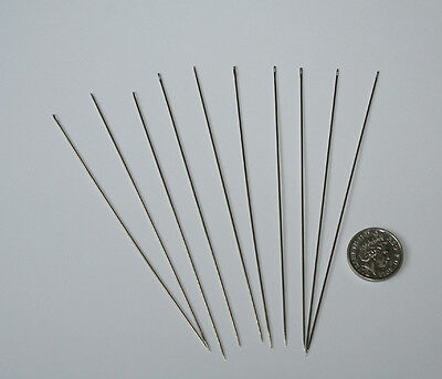 10 Beading needles, 100mm.