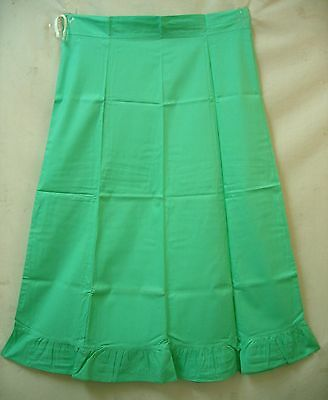 Pista Pure Cotton Frill Petticoat Skirt Full Length Indian Steal Market #DFKZY