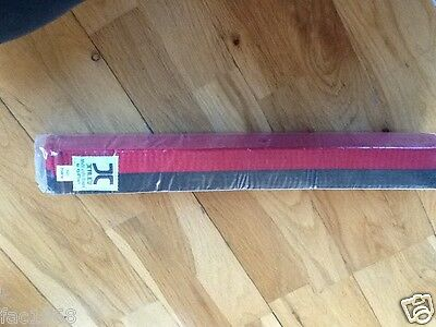 JCalicu Red & Black Stripe Martial Arts Karate Taekwondo Belt 300cm New in bag
