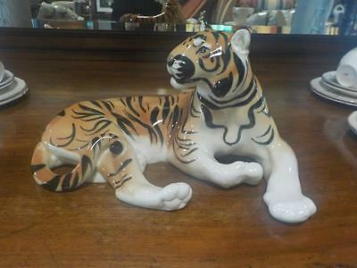 Vintage Large Tiger Ornament From The USSR Collectable Wild Animals