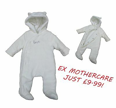 Baby Boys Girls Unisex Pramsuit Snowsuit Winter Coat Warm Hooded Early Baby- 9m