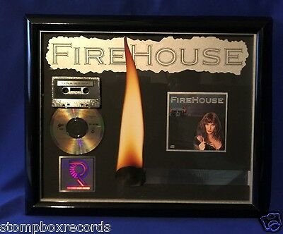 vintage 1990 Firehouse ST CD PLATINUM RIAA RECORD AWARD Fire House HAIR METAL