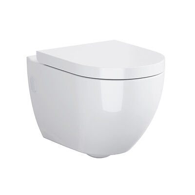 NEW Cersanit Harmony Wall Hung Toilet Pan & Soft Close Seat RRP £217