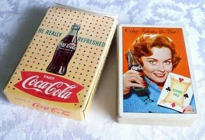 1961 Coca Cola Girl Score Pad, Deck of Cards, COKE REFRESHES YOU BEST