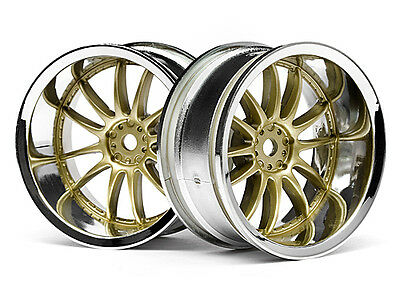 HPI Work Xsa 02c Wheel 26mm Chrome/gold (9mm Offset) #3299