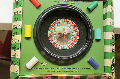 8.5 Inch Regulation Roulette Wheel By Lowe In Original Box With Instructions