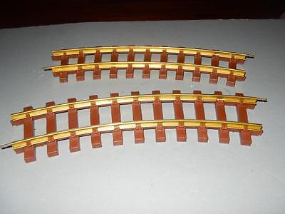G Scale - Lionel Brass Track- 2 Curved Sections - New-
