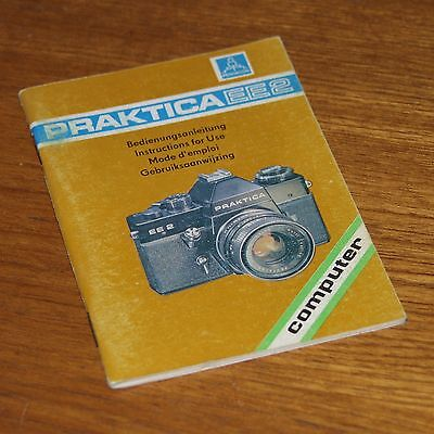 Instructions for PRAKTICA EE2 camera in German Dutch English & French