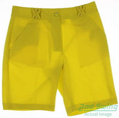 New Womens EP Pro Golf Shorts Size 10 Yellow MSRP $70