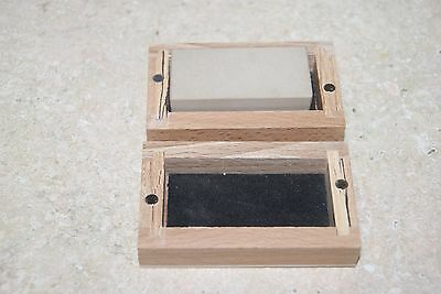 Oil Stone Flat In Wooden Box New Clock Tool / Parts
