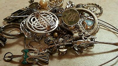 111.6 Grams Sterling Silver Jewelry Necklaces Bracelets Rings Scrap Lot