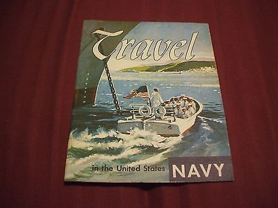 1962 TRAVEL IN THE UNITED STATES NAVY Recruiting Recruitment Brochure