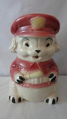 Brush McCoy Pottery 1966 W39 Puppy Police  Cookie Jar #H934