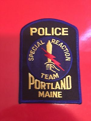 Poltland Maine Special Reaction Team  Police  Shoulder Patch