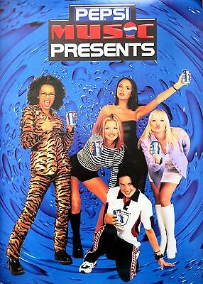 Spice Girls Original Promo Poster For Pepsi Music In Mint Condition