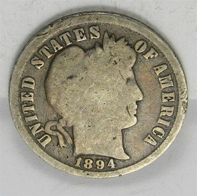 1894 Barber Dime 10c Silver Coin