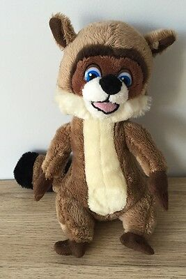 "Dreamworks Over The Hedge - R J Raccoon - 8"" Beanie Soft Toy - Gosh - Vgc"