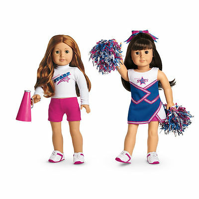 New in Box American Girl Doll Cheer Gear 2-in-1 Cheerleading Set Uniform Outfit