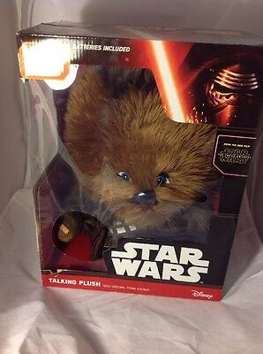 "Disney Star Wars Talking 16"" Chewbacca Plush Toy The Force Awakens Movie Sounds"