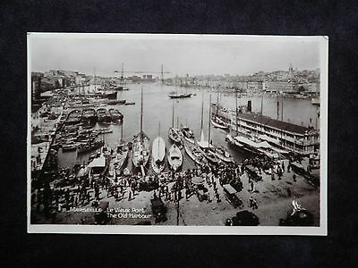 Vintage French Shipping Postcard Of Marseille Le Vieux Port The Old Harbour