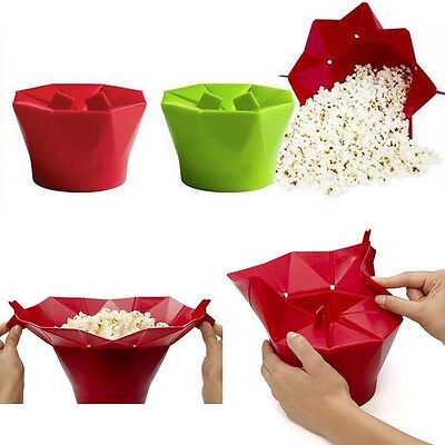 Healthy Silicone Microwave Popcorn Popper Homemade Corn Maker Bowl Bucket Tool