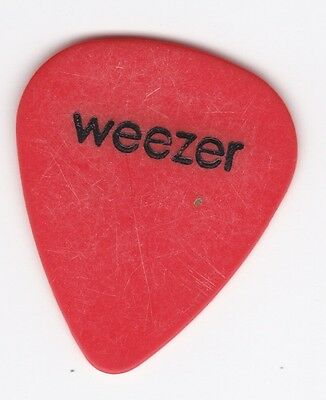 1990s RIVERS CUOMO 'WEEZER' LOGO' TOUR USED GUITAR PICK #1 OF 2